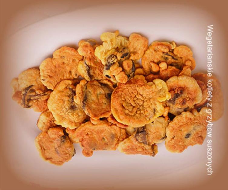 Wegetariańskie kotlety z grzybów suszonych
